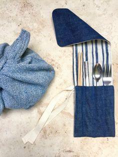 Zero waste reusable utensil wrap by Ambatalia