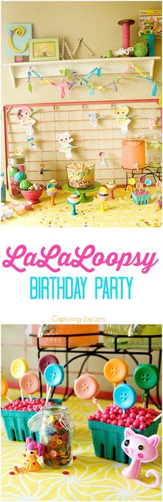 Little girls Lala Loopsy Birthday picture ideas!  From decor to food ideas-we've got it all covered!