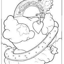 Care Bear heart coloring page - Coloring page - CHARACTERS coloring pages - TV SERIES CHARACTERS coloring pages - CARE BEARS coloring pages - CARE BEAR coloring pages