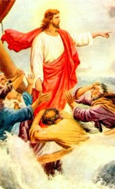 Painting - Jesus calms the Storm