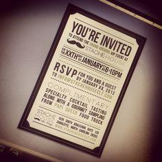 Grand Opening invitation design for Stache House CLT