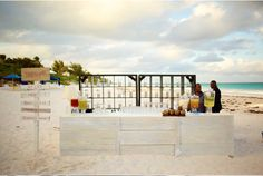 Beach Bar at Harbour Island, Bahamas Wedding From Once Wed (Photography by Jonas Peterson)