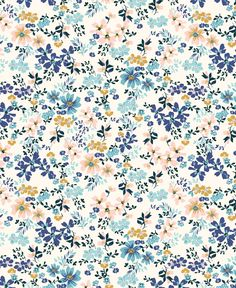 Tara Lilly Art & Illustration floral pattern by tara lilly Tumblr Backgrounds, Cute Wallpaper Backgrounds, Pretty Wallpapers, Flower Wallpaper, Pattern Wallpaper, Trendy Wallpaper, Wallpaper Für Desktop, Iphone Background Wallpaper, Aesthetic Iphone Wallpaper