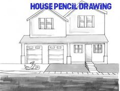 Cool drawings of houses awesome simple old house drawing Dream House Sketch, Dream House Drawing, House Design Drawing, Design Your Dream House, Dream House Plans, House Floor Plans, Dream Houses, Simple House Drawing, House Template