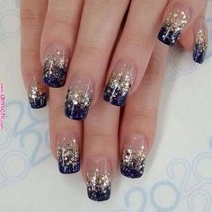 All these nail designs and styles are as easy as they are adorable. If you're always searching for creative ideas and innovative designs, nail art designs are a good way to demonstrate your individuality as well as to be original. Nail Design Glitter, Glitter Nail Art, Nails Design, Glitter Images, Gel Nail Art Designs, French Nail Designs, French Nail Art, Stylish Nails, Trendy Nails