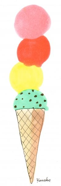 when i was young, i always wanted my ice cream cone to look like this