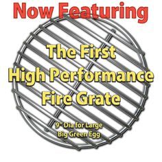 High-que fire grate- replaces current grate if having problems with ash build up and small pieces of lump plugging up holes