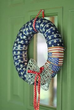 Ribbon Wrapped Fourth of July Wreath : Factory Direct Craft Blog
