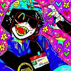 Cute Art Styles, Cartoon Art Styles, Psychedelic Art, Aesthetic Art, Aesthetic Anime, Character Art, Character Design, Arte Do Kawaii, 8bit Art