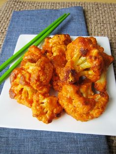 Bang Bang Buffalo Cauliflower - yummy football snack we had today!  I replaced the almond meal (wtf is that lol) with breadcrumbs...deelish :) Just wish the Jets played better ;p