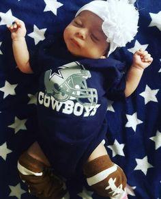 Dallas Cowboys Creeper Bib Blue Band 3 Piece Set Baby Infant Girls 6 Months NWT