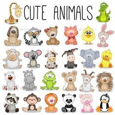 Set of Animals by Reginast777 | GraphicRiver