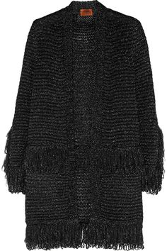 Missoni   Metallic fringed crochet-knit cardigan $1,360