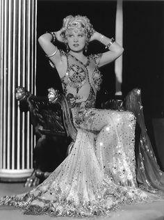 Mae West in Grecian gear.