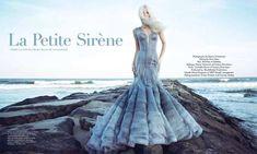 Platinum Blonde Mermaid Editorials -  The Haute Living 'Le Petite Sirene' Stars Elena Potapova #elenapotapova #fashion
