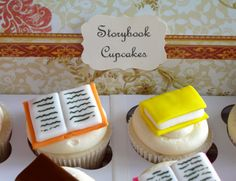 cxvxc cfv gbvc Mini Storybook Cupcake Toppers  1 Dozen by sweetenyourday on Etsy, $15.00