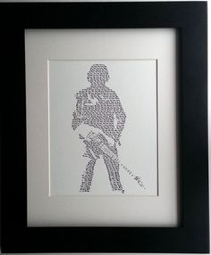 Personalized Bruce Springsteen Original Hand Drawn by ahedgspeth