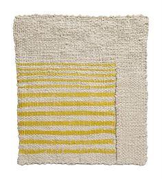 funwithfibers:Sheila Hicks - Vanishing Yellow, cotton tapestry