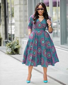 Double breasted Ankara Dress African ankara Dress African Bridesmaid Ankara Knee lenght dress African clothing for women Ankara Dress Latest African Fashion Dresses, African Dresses For Women, African Print Dresses, African Print Fashion, African Attire, Ankara Fashion, Modern African Dresses, African Prints, African Women