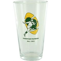 Show your allegiance every time you take a sip with this officially licensed pint glass. This pint glass from Boelter Brands holds approximately 16 ounces and displays your favorite team in a quality design. Green Bay Packers Merchandise, Pint Glass, Display, Vintage, Design, Floor Space, Billboard, Beer Glassware