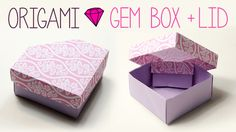 Origami Gem Box with Lid - origami gem or crystal shaped box is perfect as a gift box, especially for jewels!