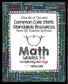 """The Best of Teacher Entrepreneurs: FREE MATH LESSON - """"Common Core Math: Free Back-to-School eBook for Grades 3-5"""""""