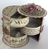 Unnis Paper Craft: Gift box with drawers