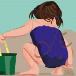 Niña en bañador, #dibujos #dibujosgraficos #dibujosgraficosinfantiles, #dibujosgraficosniños,  #graficos #infantiles, #niños, #dibujosinfantiles, #dibujosniños,  http://www.dibujosgraficos.me-design.es
