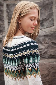 Ravelry: Bistort Pullover pattern by Courtney Spainhower. Just look at that yarn! Knit Picks Wool of the Andes Sport Fair Isle Knitting Patterns, Sweater Knitting Patterns, Knitting Designs, Knit Patterns, Sock Knitting, Knitting Tutorials, Vintage Knitting, Free Knitting, Stitch Patterns