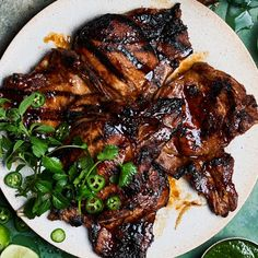 Looking for easy pork recipes? How about pulled pork, tacos, breakfast hash, grilled skewers, and simple sheet-pan dinners? Check out our 53 best pork dinners. Pork Chop Recipes, Grilling Recipes, Dinner Party Main Course, Grilled Chicken Wings, Grilled Pork Chops, Pork Dishes, Pork Ribs, Main Dishes, Herbs