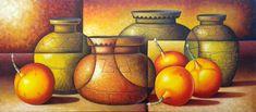 Bodegón precolombino moderno. Miguel Tapia Painting, Wine Cellars, Trendy Tree, Art, Painting Art, Paintings, Drawings