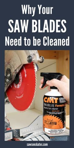 Looking for ideas to improve the performance of your woodworking tools? Have you ever cleaned your saw blades? No?! Cleaning your blades will improve the quality of yours, reduce corrosion of your blades and keep your saws running at peak performance. #woodworkingtips #woodworkingideas