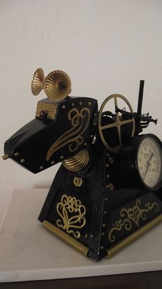 YES, PLEASE!!!!  Victorian K9 Large Doctor Who steampunk K-9 1/4 scale model tardis daleks. $230.00, via Etsy.