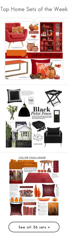 """""""Top Home Sets of the Week"""" by polyvore ❤ liked on Polyvore featuring interior, interiors, interior design, home, home decor, interior decorating, Madura, Pillow Perfect, Improvements and Vera Bradley"""