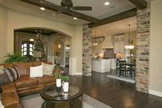 Living room, kitchen design