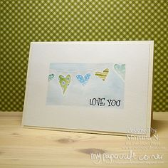 Love you Card Paper Divas, Your Cards, I Card, Place Cards, Stamps, Card Making, About Me Blog, Corner, Love You