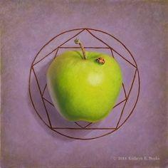 Dancing Brush Art by Cheri Wollenberg Green Apples