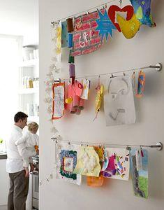child's art display, kid's art, art display, pictures on canvas