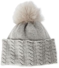 af32fa948d2 Portolano Real Fox Fur Pom-Pom Hat Fur Pom Pom Hat