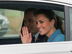 William and Kate leaving Blenheim