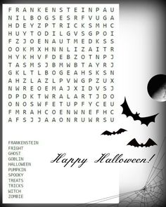 halloween word search halloween word search halloween words and word search - Halloween Word Searches For Kids