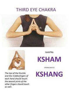 Third Eye Chakra: Self healing Mantras Mudras for Chakra meditation Pranayama, Yoga Kundalini, Chakra Mantra, Chakra Healing, Reiki Chakra, Chakra Crystals, Ayurveda, Meditation Musik, Healing Meditation