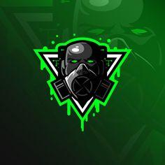 Diseño de logotipo de mascota tóxica con... | Premium Vector #Freepik #vector #logo Goblin, Corona Logo, Vector Verde, Logo Gaming, Samurai, Vintage Motocross, Blue Back, Clipart, Team Logo