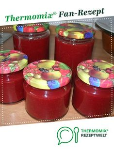 Erdbeer-Rhabarber-Marmelade - Thermomix - Erdbeer-Rhabarber-Marmelade Strawberry and rhubarb jam by Uncle Otto. A Thermomix ® recipe from the Sauces / Dips / Spreads category on www.de, the Thermomix ® Community. Jam Recipes, Greek Recipes, Sauce Recipes, French Recipes, Seafood Dip, Seafood Dishes, French Desserts, French Food, Strawberry Rhubarb Jam