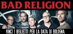 #Punk news:  BAD RELIGION: Vinci i biglietti! http://www.punkadeka.it/bad-religion-vinci-i-biglietti/ Si avvicinano le date della storica punk-rock band californiana, il 2 settembre a Trezzo sull'Addae il 3 a Bologna. Ad accompagnare il prof. Graffin % Co. ci saranno gli Interrupters, giovane ska band californiana fresca di debutto su Hellcat Records. CLICCA QUI E VINCI I BIGLIETTI PER LA DATA ...