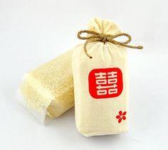 囍米滿袋 - 布袋結婚喜米