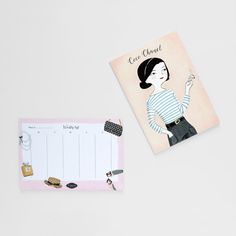 Coco Chanel Notebook and Weekly Calendar by ElCostureroPattern