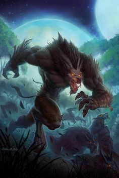 Curse Of The Worgen ---trying to avoid WoW derpwolves, but this art looks good