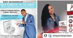 """#Repost @dmpenterprises with @repostapp  Tonight on The Self Publish -N- 30 Days Podcast we will have an #Amazing interview with DaVita Garfield. @davita_empowermentnow As a Speaker Author and Empowerment Coach DaVita credits the many life experiences and obstacles that she has overcome during her life as the driving force behind her God-given assignment to support other women by encouraging them to become amazing on purpose. You don't want to miss this... """"This Is The Year For Your New…"""