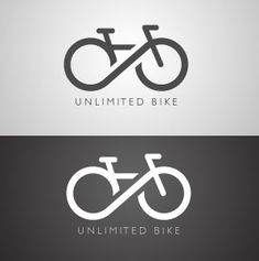 This logo combines a bicycle with the infinity sign as the wheels, creating a very fluid logo.